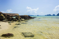 Thailand sea and beach. Sea and beach at the island in the southern part of Thailand Stock Images