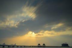 Thailand-Seebrücke Stockbilder