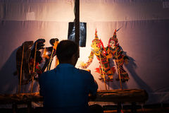 Thailand Shadow Puppet Show Stock Photography