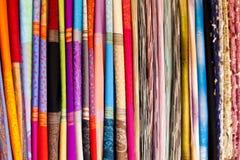 Thailand silk, close-up. stock photography