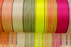 Thailand silk. Thai silk colorful in roll Stock Image