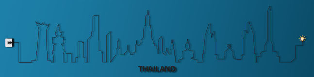Thailand with socket,electricity,illustration Royalty Free Stock Image