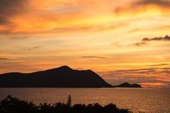 Thailand solnedgång Arkivfoton