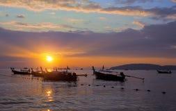 Thailand solnedgångsikt Royaltyfri Foto