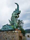 Thailand Songkhla Dragon Head. Travel to Thailand Songkhla River side Dragon Head royalty free stock photos