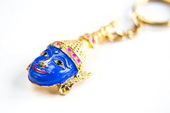 Thailand Souvenir key chain Thai giant khon mask Royalty Free Stock Photography