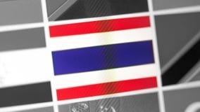 Thailand-Staatsflagge des Landes Thailand-Flagge auf der Anzeige, ein digitaler Wässerungseffekt lizenzfreies stockfoto