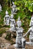 thailand Statue segrete magiche del giardino di Buddha in Samui Viaggio, T fotografie stock libere da diritti