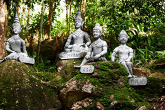 Thailand. Statues In Secret Buddha Garden In Koh Samui. Buddhism Royalty Free Stock Images