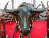 Thailand-Stierkopfstatue mit Beschneidungspfad Lizenzfreies Stockfoto