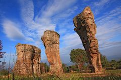 Thailand stonehenge, Mor Hin Khao Royalty Free Stock Photos