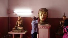Thailand-Straßenansicht des alten Tempels in Ayutthaya, Thailand stock footage