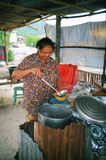 Thailand street cook Stock Image