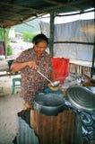Thailand street cook stock image