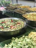 Thailand street food. Selling all kind of curry Royalty Free Stock Photos