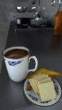 Thailand streift weiße Teeschale Stockbild