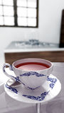 Thailand streift weiße Teeschale Lizenzfreies Stockfoto