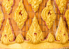 Thailand striped stucco low relief Stock Images