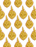 Thailand striped stucco low relief Royalty Free Stock Image