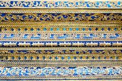 Thailand stripes art on Base pattern temple royalty free stock photos