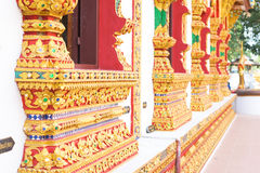 Thailand stripes art on Base pattern temple Royalty Free Stock Images