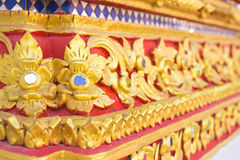 Thailand stripes art on Base pattern temple Stock Photo
