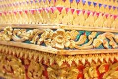 Thailand stripes art on Base pattern temple Royalty Free Stock Photo