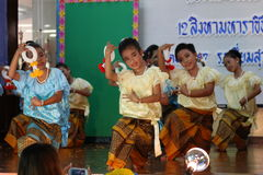 Thailand-Studenten Kultur-Tanz Lizenzfreies Stockfoto
