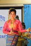 Thailand-Studenten Kultur-Tanz Lizenzfreie Stockbilder