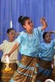 Thailand-Studenten Kultur-Tanz Stockfotografie