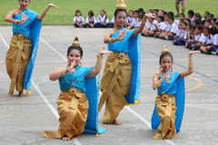 Thailand students Culture Dance Royalty Free Stock Photography