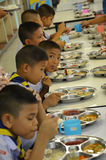 Thailand students eat. Ing in the school cafeteria Stock Image