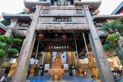 Thailand Style Belfry and Natural stone carve granite chinese pagoda in Wat Kalayanamitr Varamahaviha Stock Images