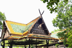 Thailand style building. At present, no one thought to build houses and traditional roof Thailand, so there is not much to see Stock Images