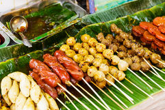 Thailand style grilled food Royalty Free Stock Photo