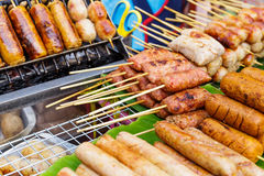 Thailand style grilled food on street Stock Photography
