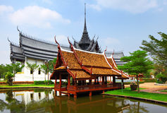 Thailand style pavilion Royalty Free Stock Photography