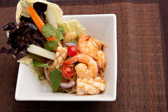 Thailand Style Seafood Salad Stock Image