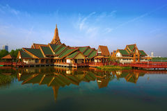 Thailand stylu budynki Obraz Royalty Free