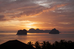 Thailand: Sunrise on Andaman Sea Stock Photo