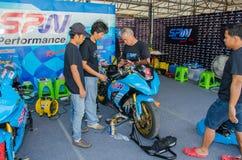 Thailand SuperBikes Championship 2015 Round 1 stock photo