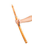 Thailand Sword in hand isolated on white background Royalty Free Stock Photo