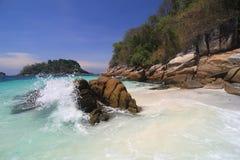Thailand sydligt hav Arkivbilder