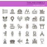 Thailand-Symbole stock abbildung