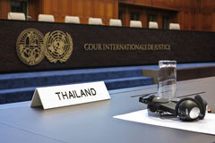 Thailand takes temple row to ICJ Stock Image
