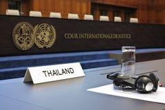 Thailand takes temple row to ICJ Stock Image