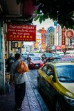 Thailand taxi business in China town royalty free stock photography