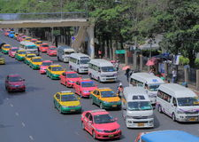 Thailand taxi mini bus Stock Image