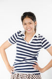 Thailand teen. Girl action on white background Royalty Free Stock Image