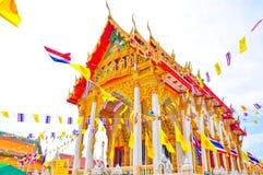 Thailand tempel och Bluesky Arkivbilder